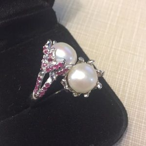 Deluxe Natural button creamy pearl 9mm rub…